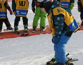 Children in ski park